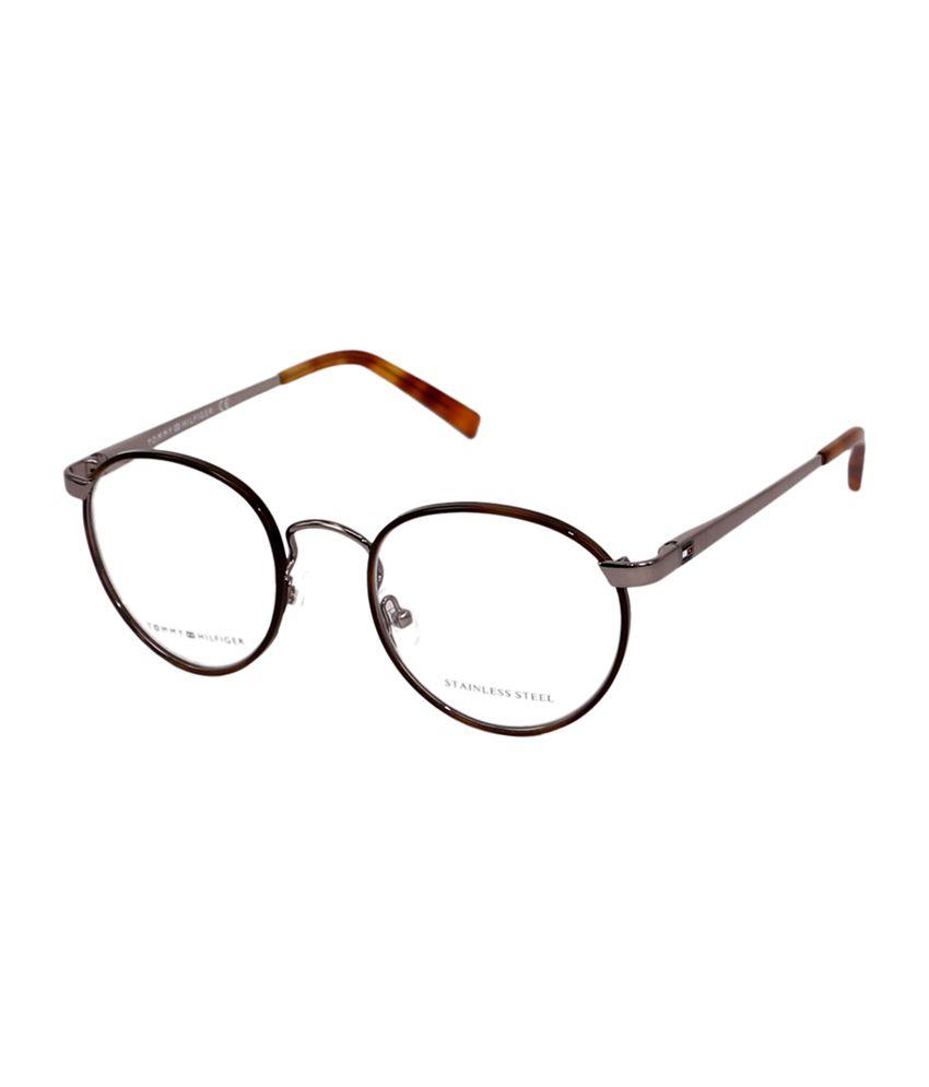 113da97b769 Tommy Hilfiger Full Rim Black   Gray Round Frame Eyeglasses for Unisex - Buy  Tommy Hilfiger Full Rim Black   Gray Round Frame Eyeglasses for Unisex  Online ...