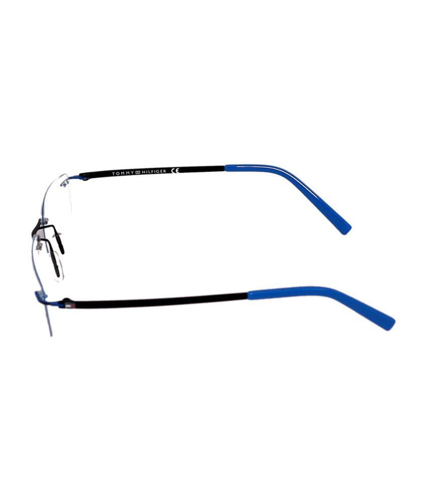 93c0d9f87b ... Tommy Hilfiger Rimless Black   Blue Rectangle Unisex Frame Eyeglasses  ...