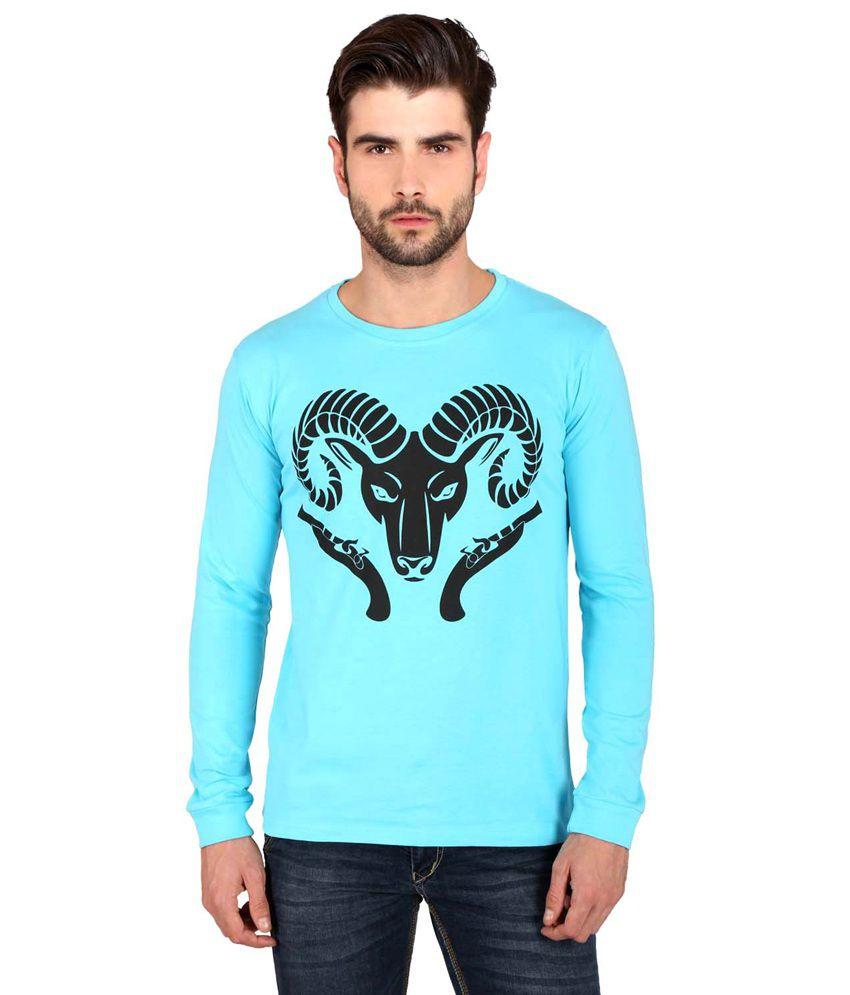 Attabouy Blue Cotton T-Shirt