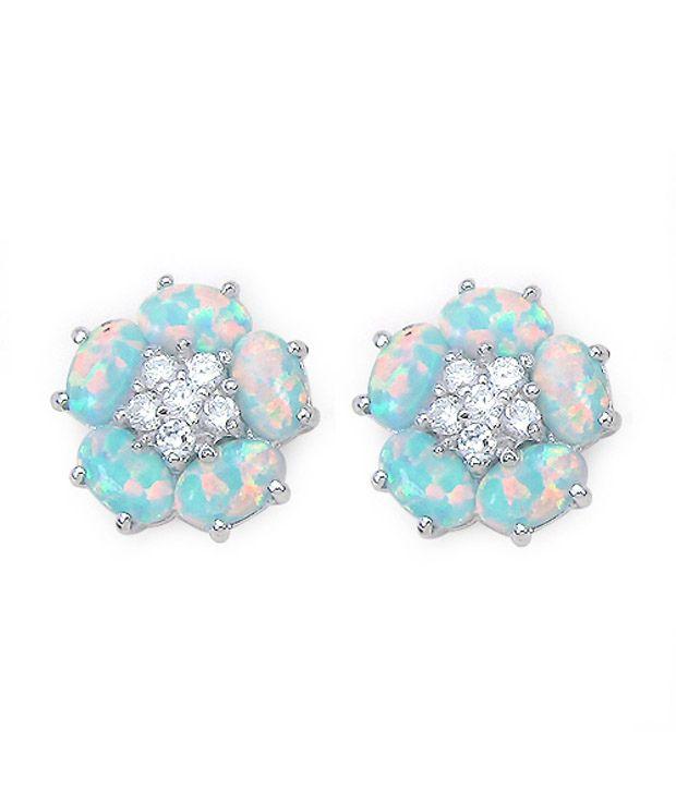 Johareez 92.5 Sterling Silver Designer Stud Earrings