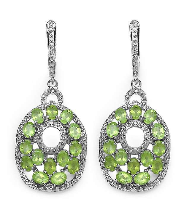 Johareez 92.5 Sterling Silver Designer Chandelier Earrings