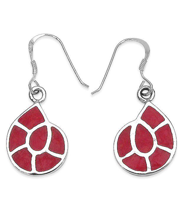 Johareez 92.5 Sterling Silver Designer Chandelier Earrings