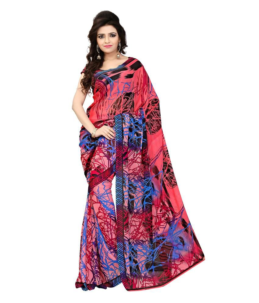 Khoobee Multicoloured Georgette Saree