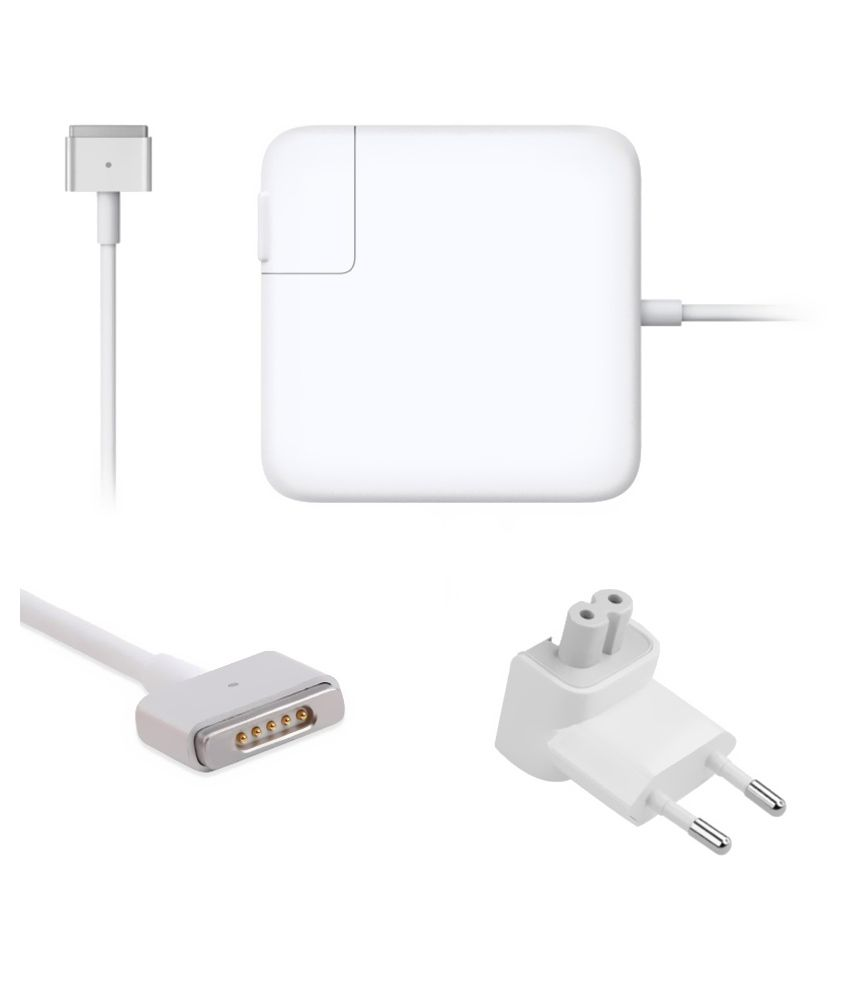 Lapsix  Magsafe-2 85w 20v-4.25a Power Adapter For Apple Macbook Ma464ll/a/a1172 - White