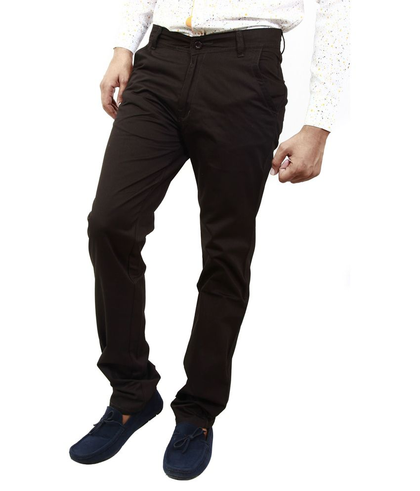 BlueTeazzers Black Regular Chinos Trouser