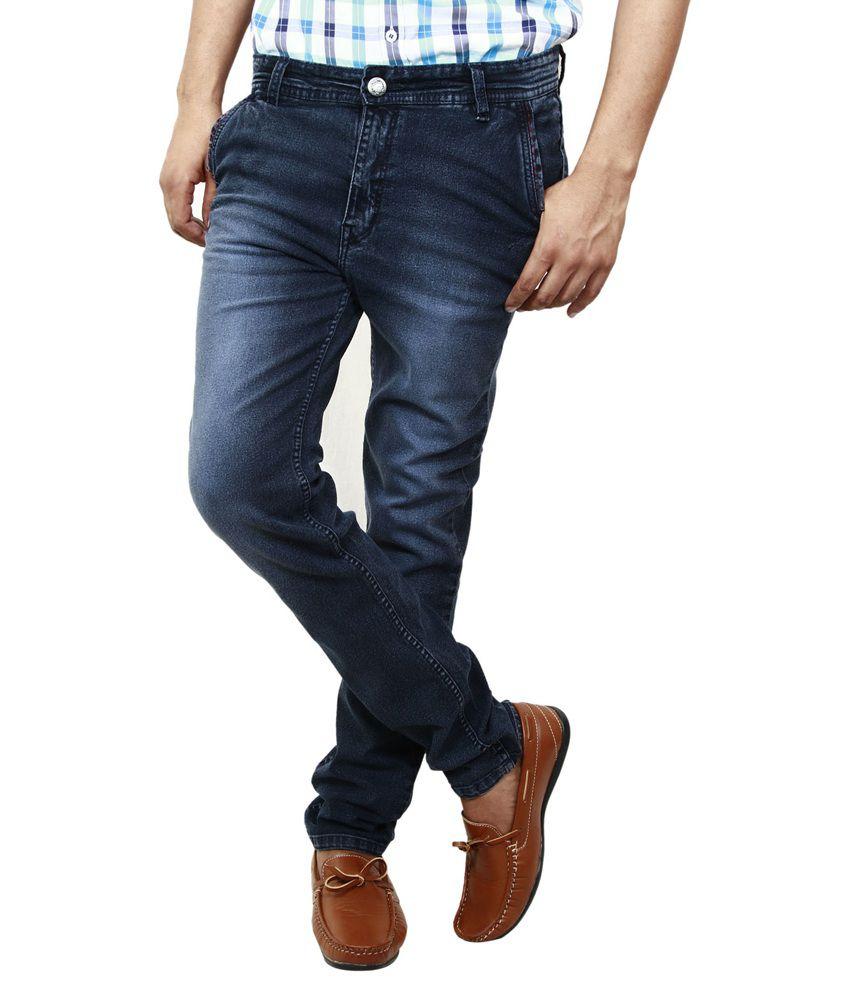 BlueTeazzers Grey Cotton Blend Slim Fit Jeans