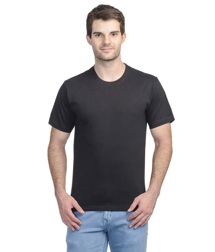 Gcs Distribution Black Cotton T Shirt