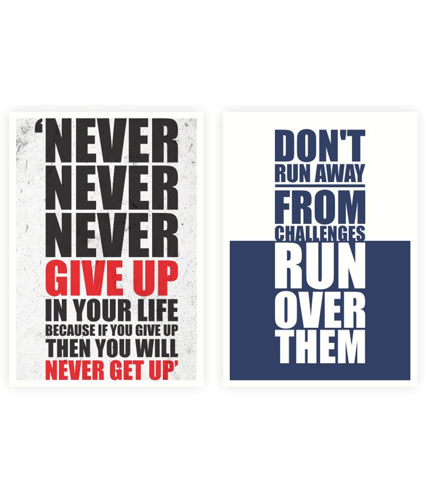 Life Quote Posters Lab No4 Never Give Up From Challenges Life Inspiring Quote