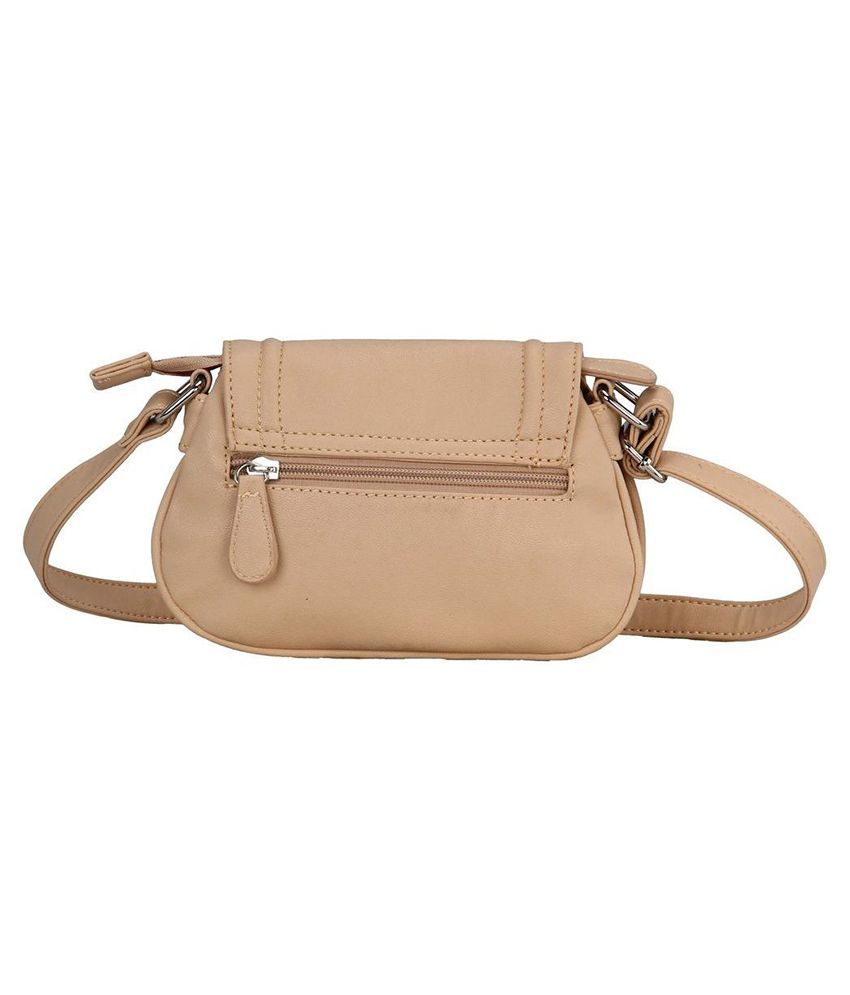 Lavie Punk Beige P.U. Small Ladies Sling Bag - Buy Lavie Punk ...