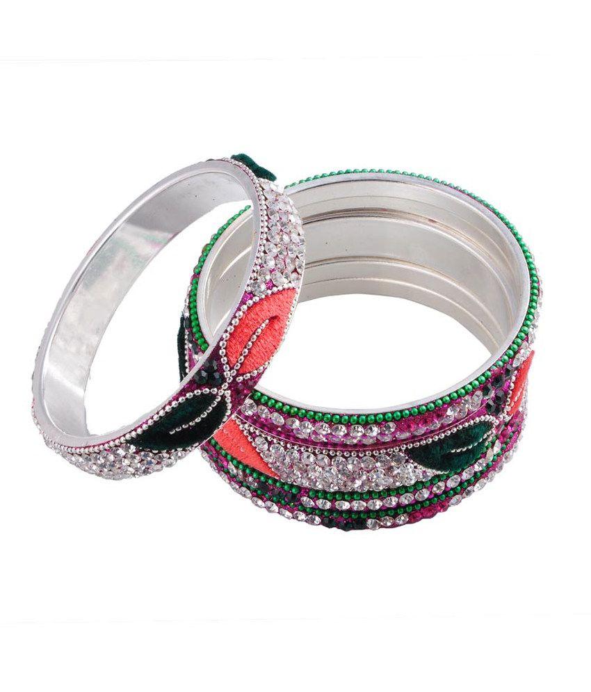 Ridhi Sidhi Collection Multicolor Antique Bangle Set
