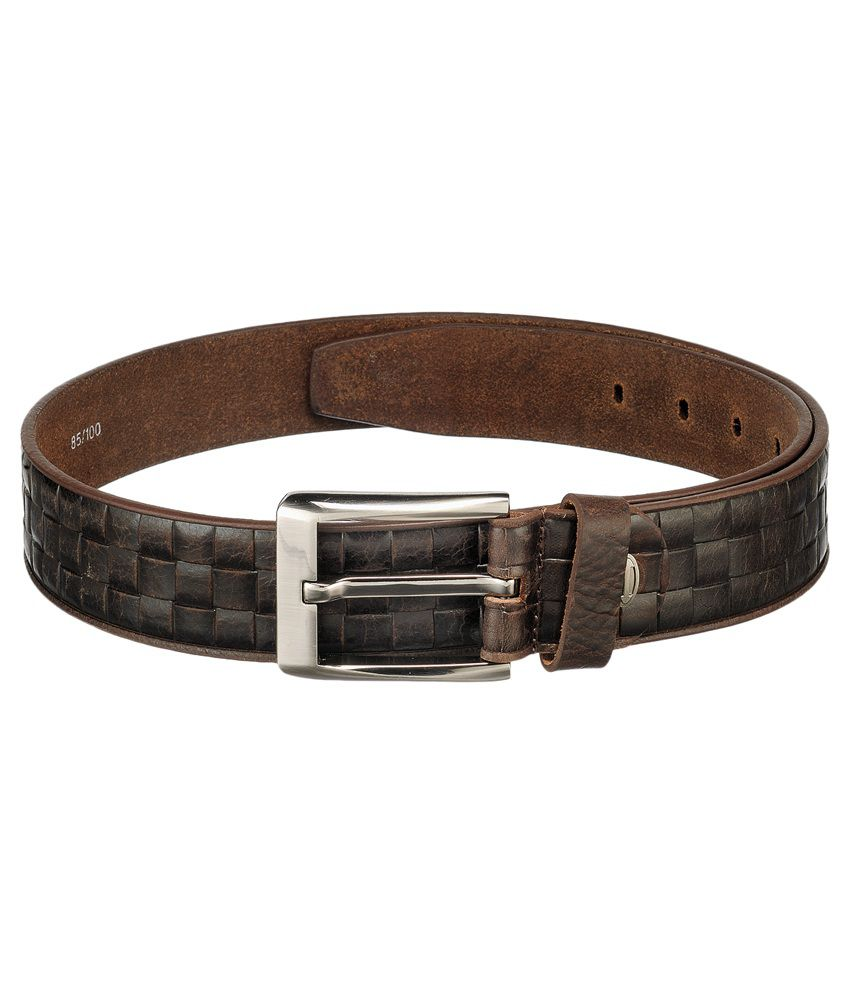 Teakwood Black Leather Casual Belt