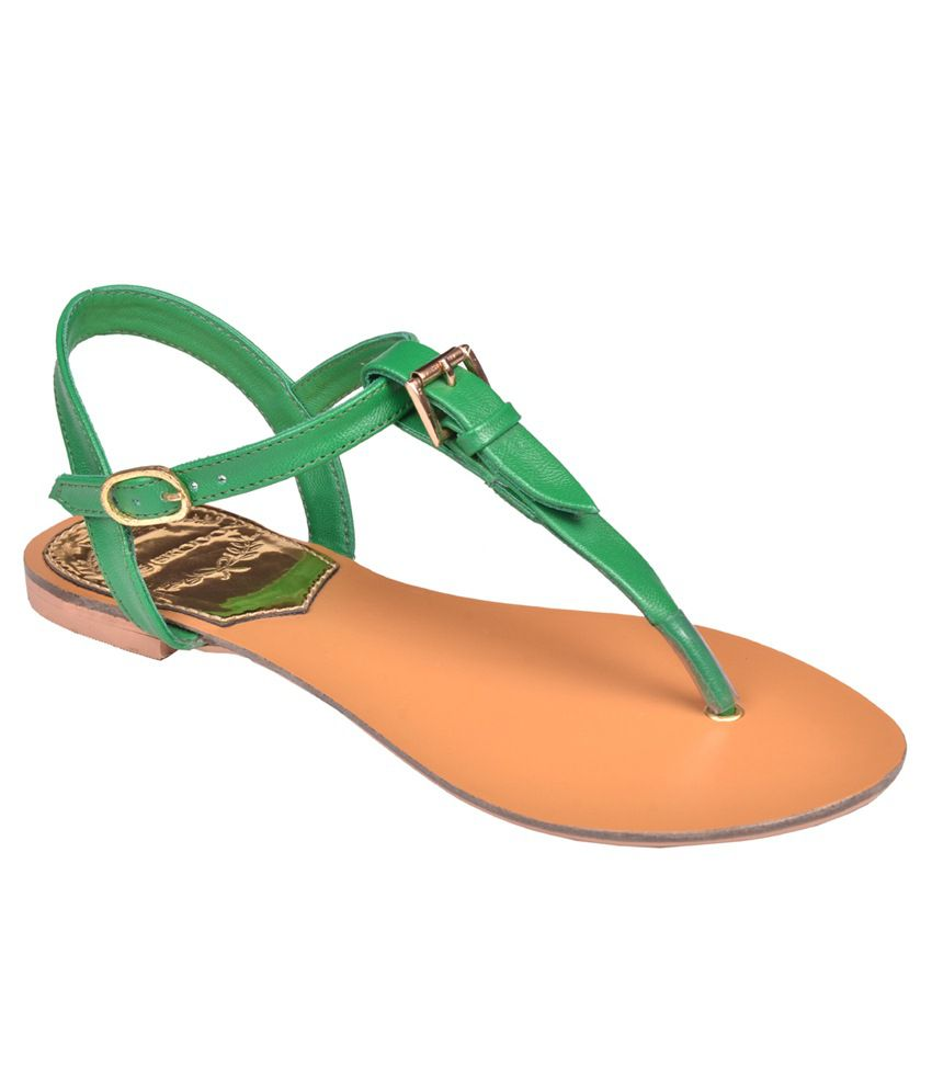 zoe skodon green flat sandals price in india buy zoe skodon green flat sandals online at snapdeal. Black Bedroom Furniture Sets. Home Design Ideas