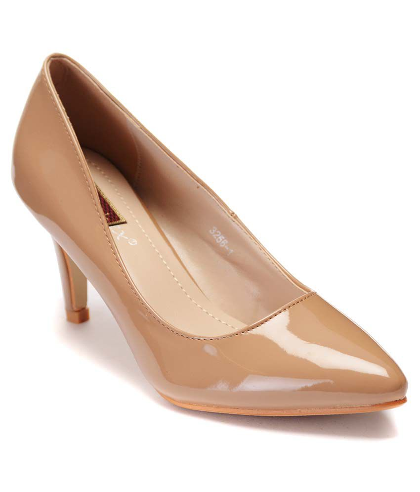 0877cdbc69 Flat N Heels Khaki Kitten Heels Price in India- Buy Flat N Heels Khaki  Kitten Heels Online at Snapdeal