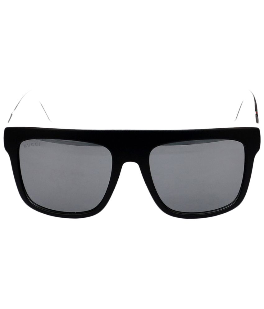 dd6ffa6ba Gucci Gray & Black Wayfarer Sunglasses for Men - Buy Gucci Gray ...