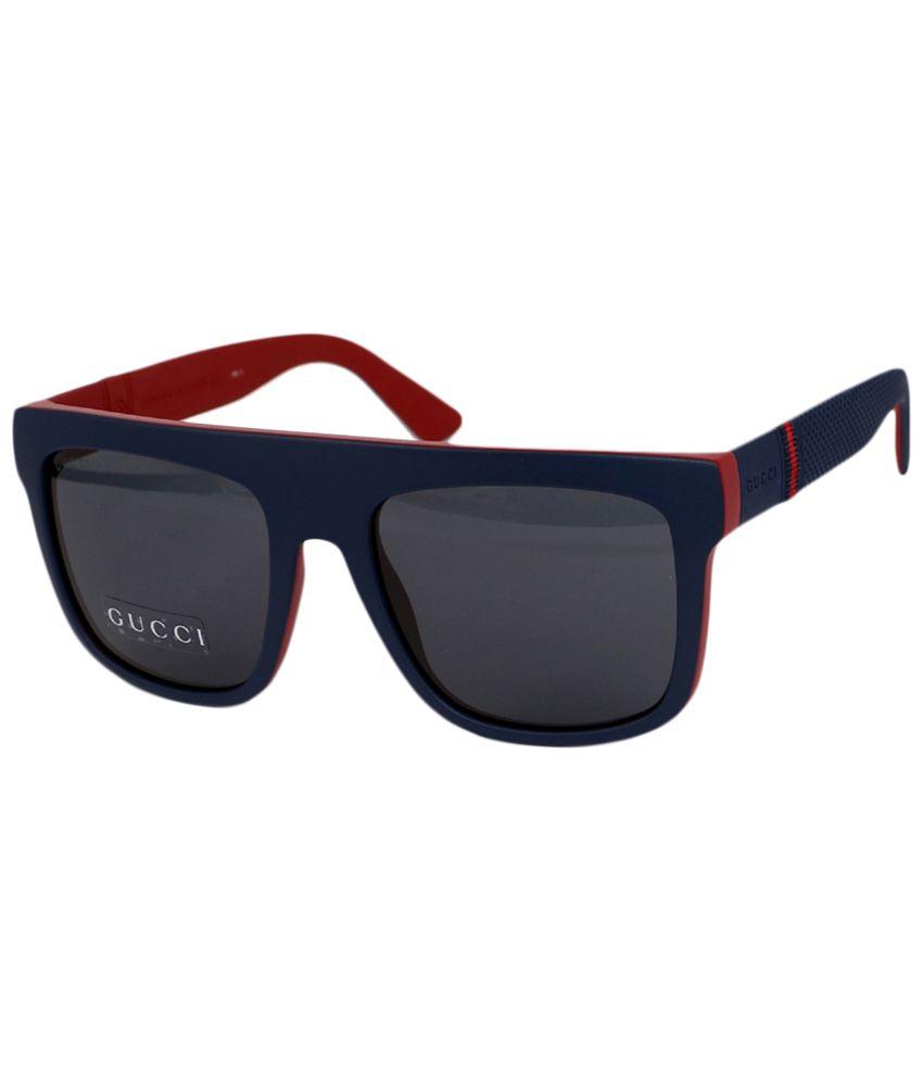 4ad9da15a Gucci Gray & Blue Wayfarer Sunglasses for Men - Buy Gucci Gray & Blue Wayfarer  Sunglasses for Men Online at Low Price - Snapdeal