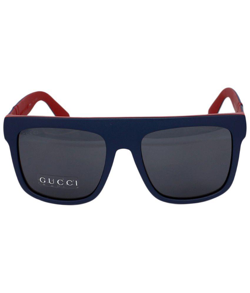55aa76d3c Gucci Gray & Blue Wayfarer Sunglasses for Men - Buy Gucci Gray ...