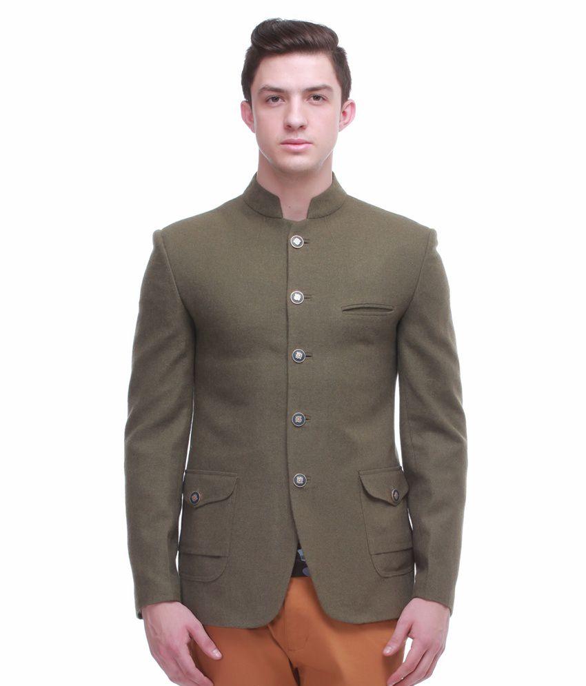 Jogur Green Full Sleeve Casual Blazer