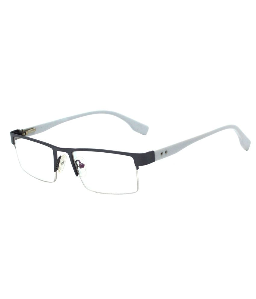 0bf08fe4a3 Red Knot White   Black Half Rim Unisex Rectangular Eyeglass Frame - Buy Red  Knot White   Black Half Rim Unisex Rectangular Eyeglass Frame Online at Low  ...