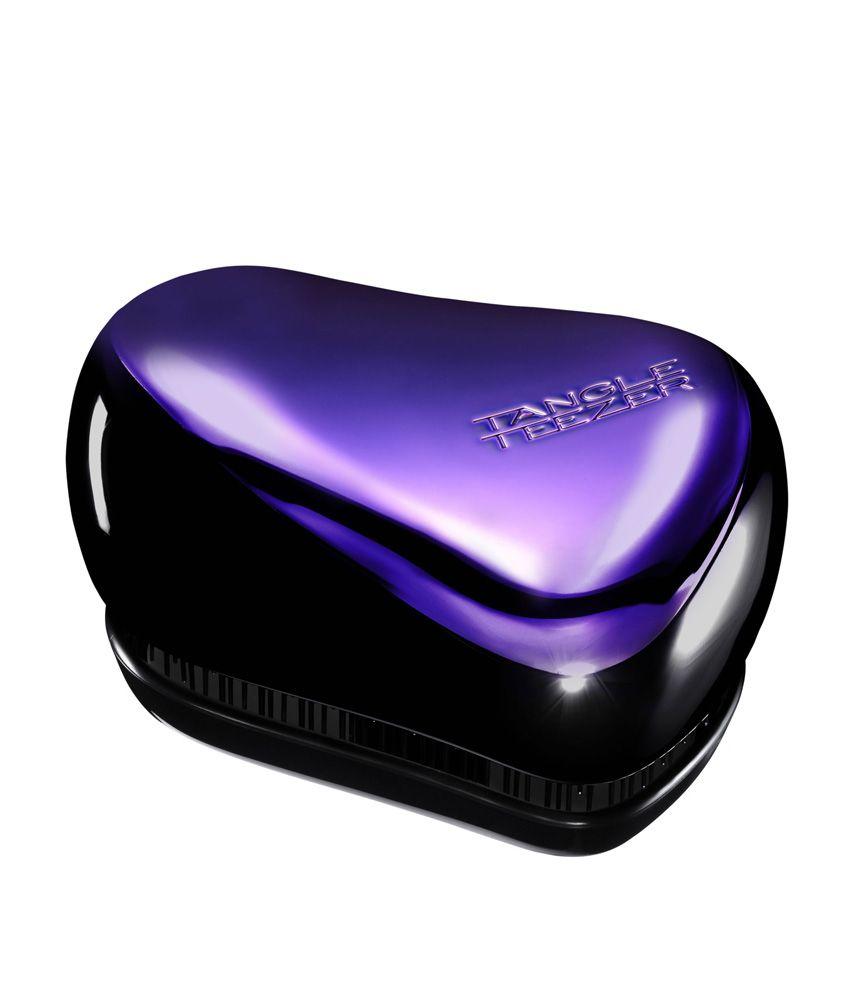 Tangle Teezer Purple & Black Compact Styler Handbag Detangling Brush