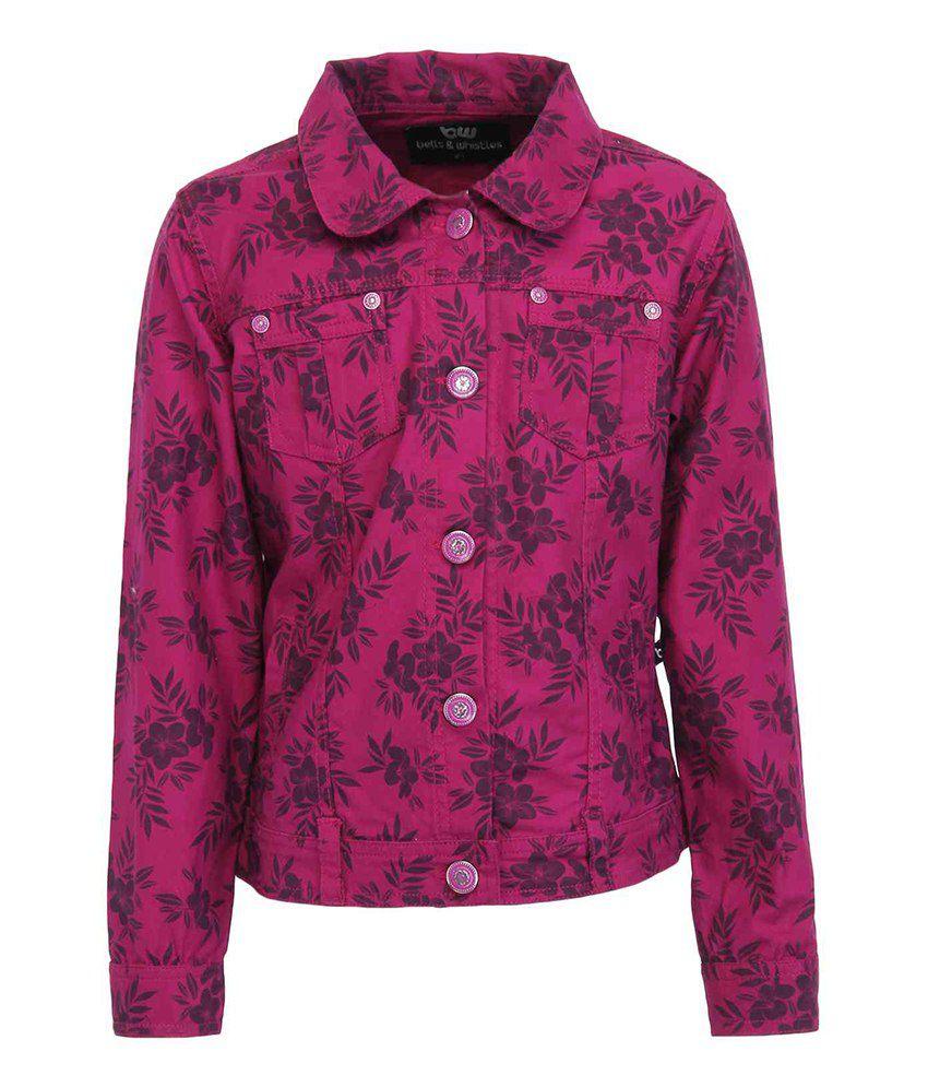 Bells & Whistles Purple Full Sleeves Denim Jackets