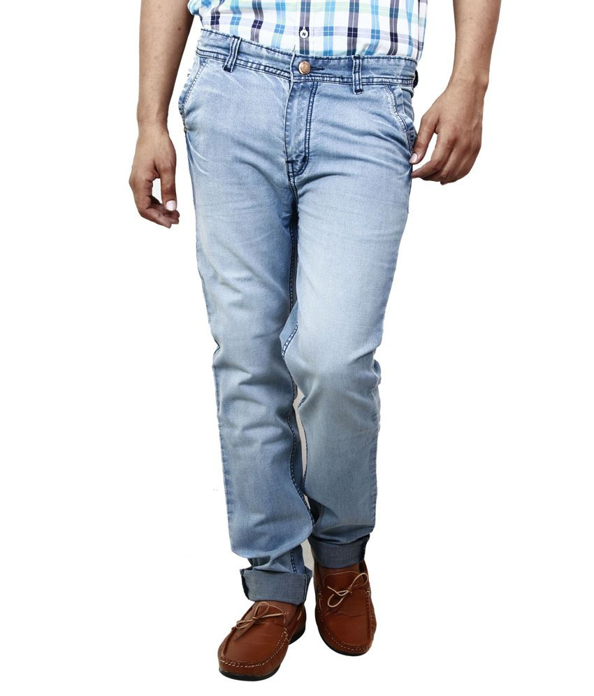 BlueTeazzers Blue Cotton Blend Slim Fit Jeans