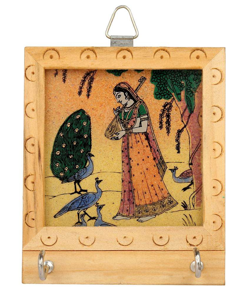 Rajrang Brown Wood Keys Holder