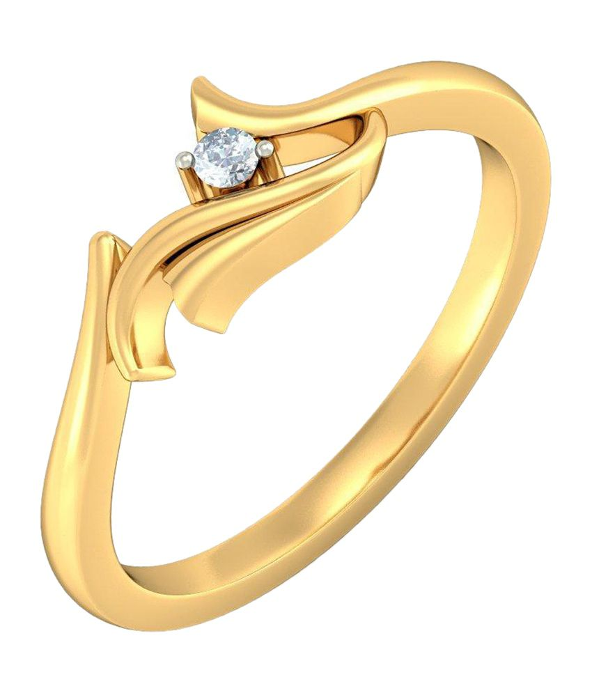 BlueStone 18kt Yellow Gold Exquisite Raga Ring