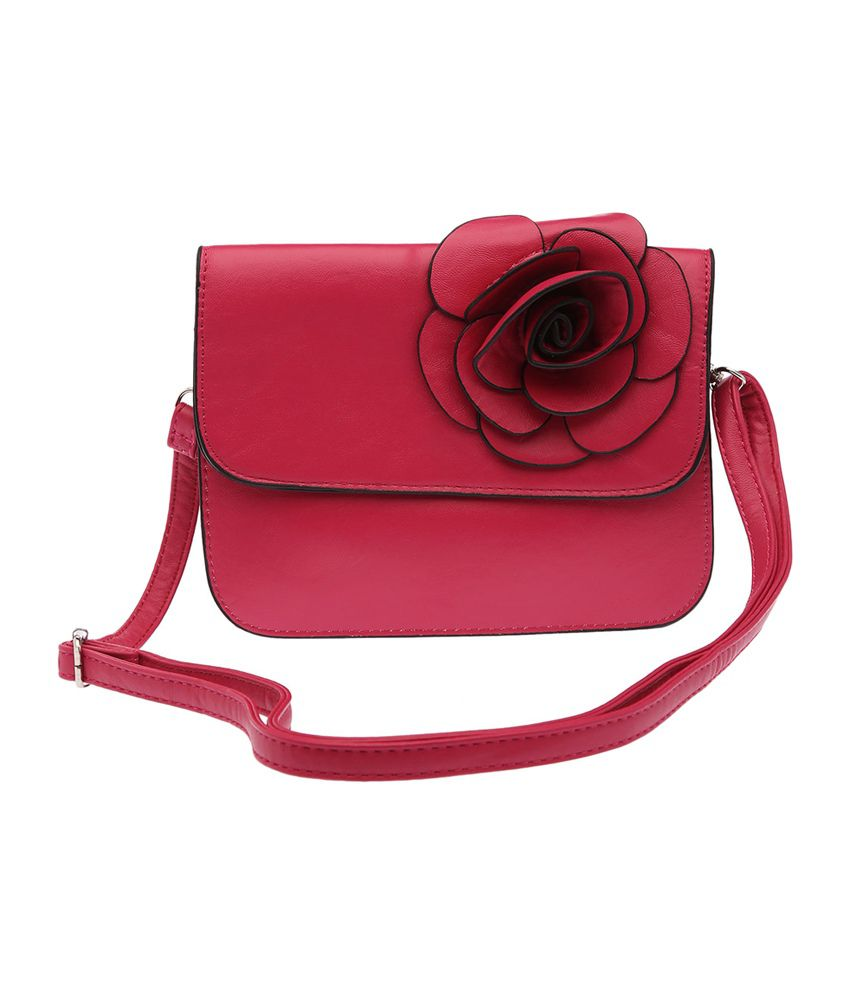 Haute Curry by Shoppers Stop Pink Sling Bag