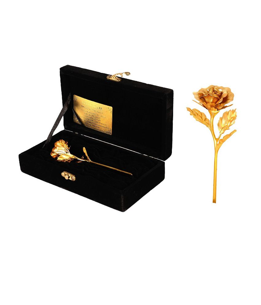 jewel fuel Goldplated Valentine Roses Gold - Pack of 1