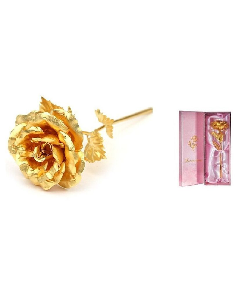 Jewel Fuel Valentine Special Rose In 24k Gold With Gift Box