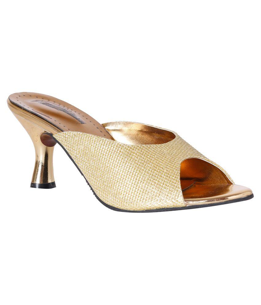 Pantof Gold Slip-Ons