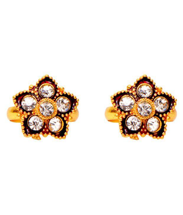Ratnakar Golden Designer Toe Ring