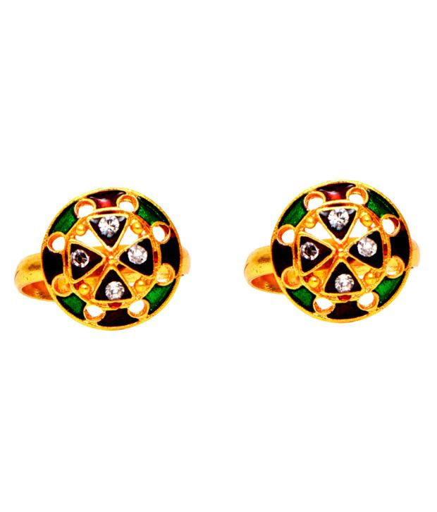 Ratnakar Multicolour Designer Toe Ring