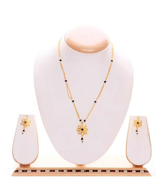 iGenie Golden Contemporary Alloy Mangalsutra