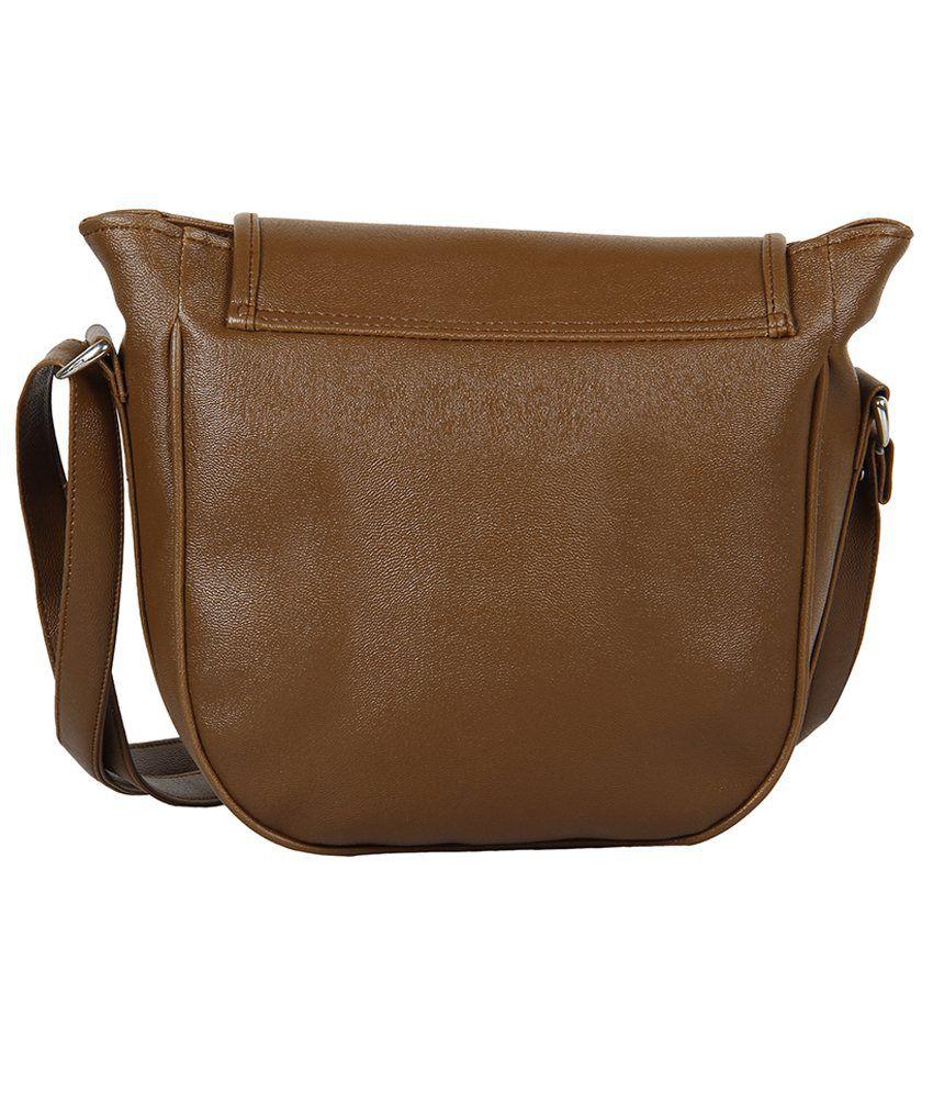 Grace Top Brown Sling Bag - Buy Grace Top Brown Sling Bag Online ...