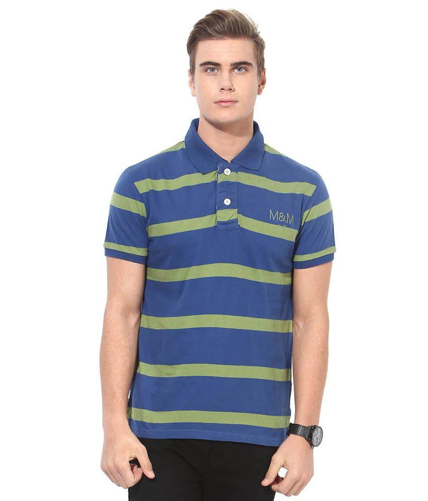 Monteil & Munero Green & Blue Polo T-Shirt