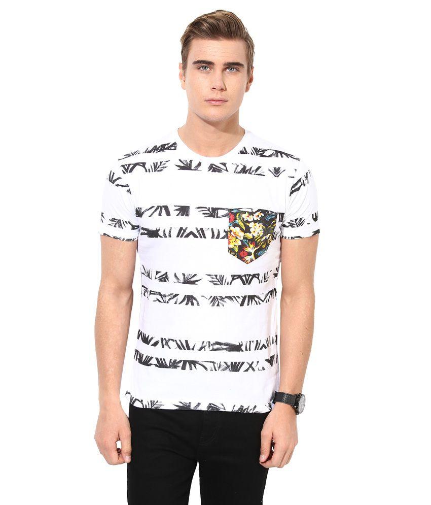 Monteil & Munero White Round Neck T-Shirt