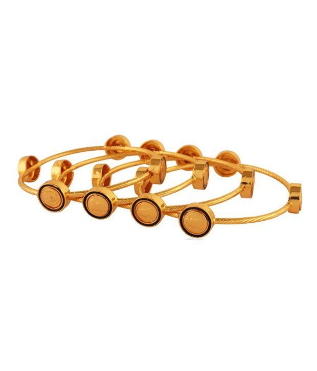 Panjarat Noble Gold Plated Antique Bangles
