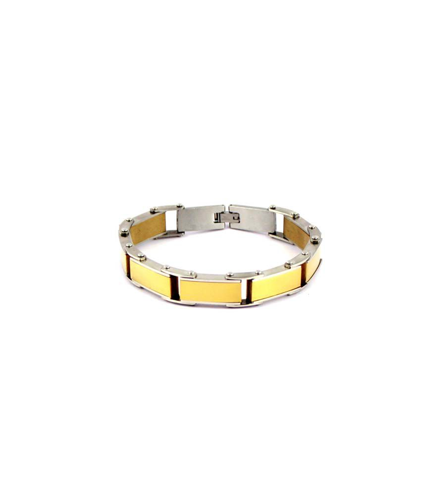 Wise Pebbles Golden Stainless Steel Bracelet