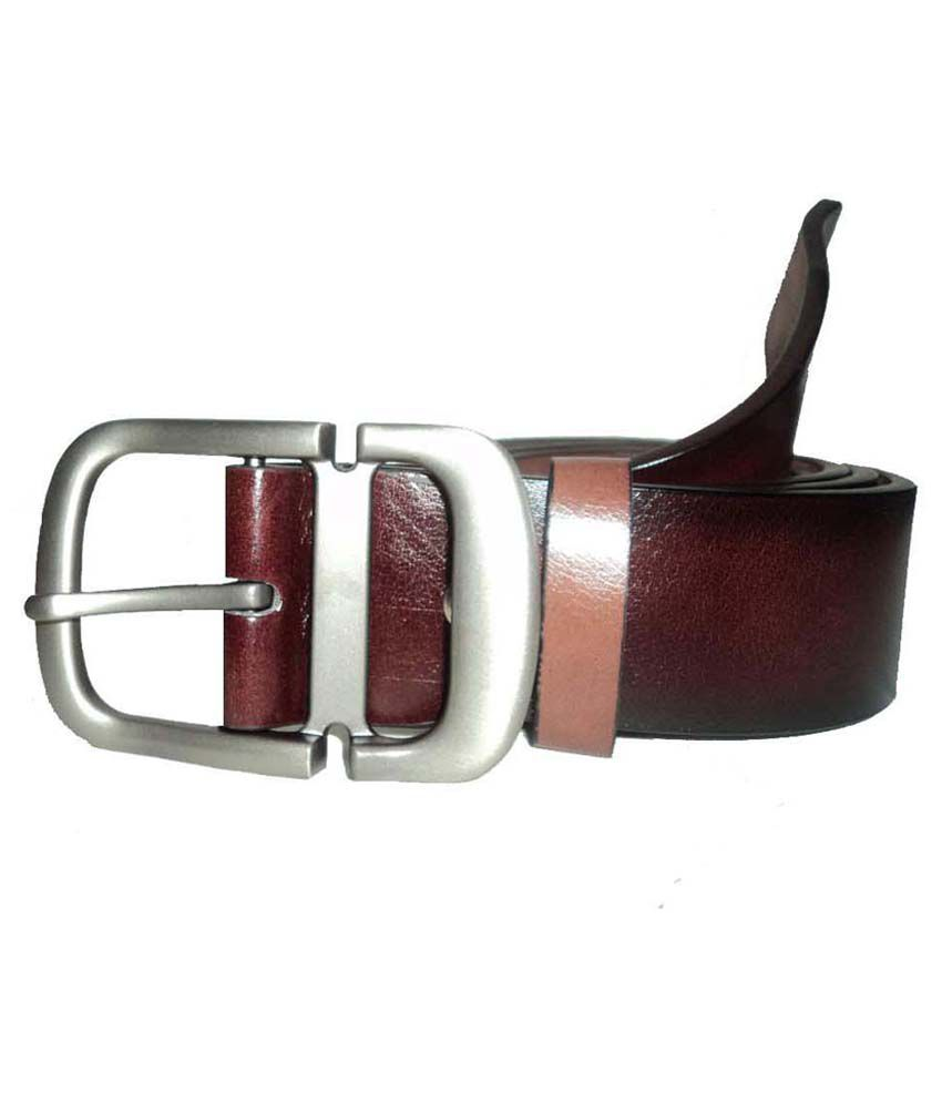 Mode Brown Leather Casual Belt