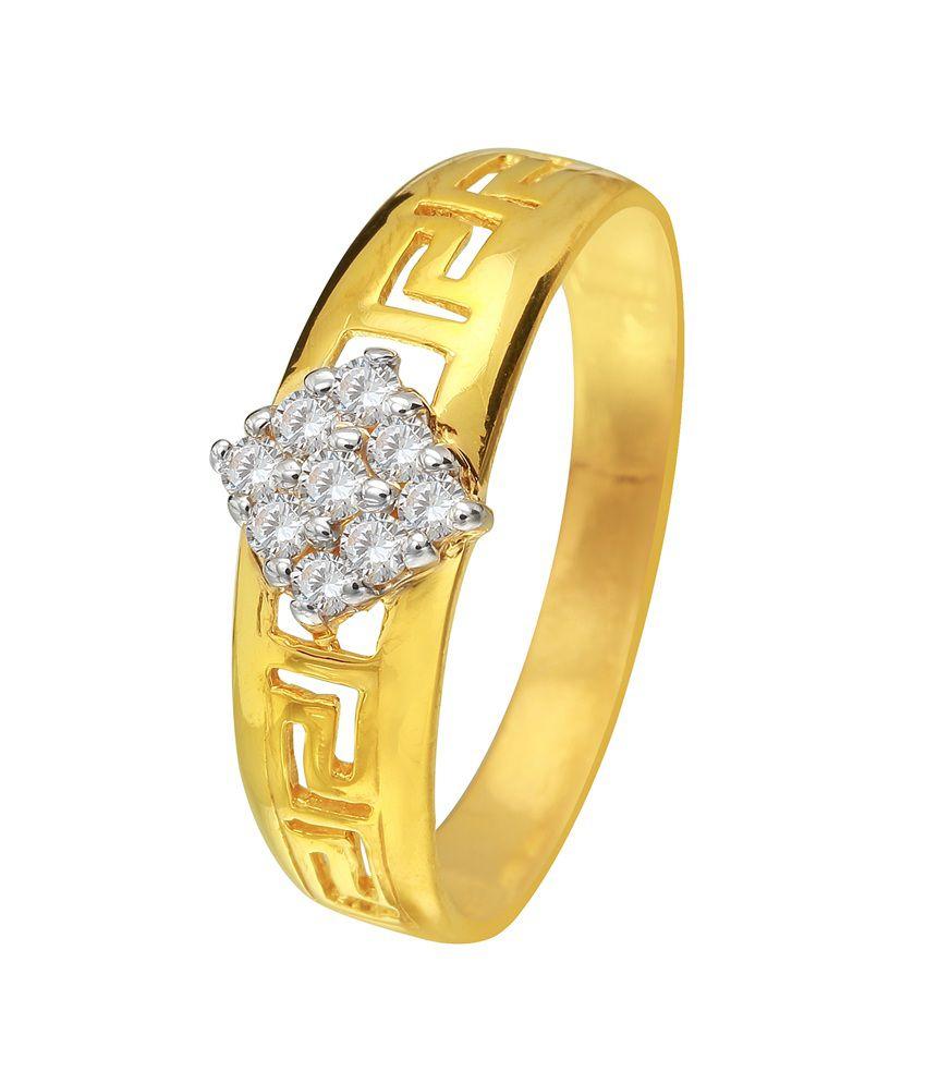 Pallak 22kt Gold Swarovski Ring