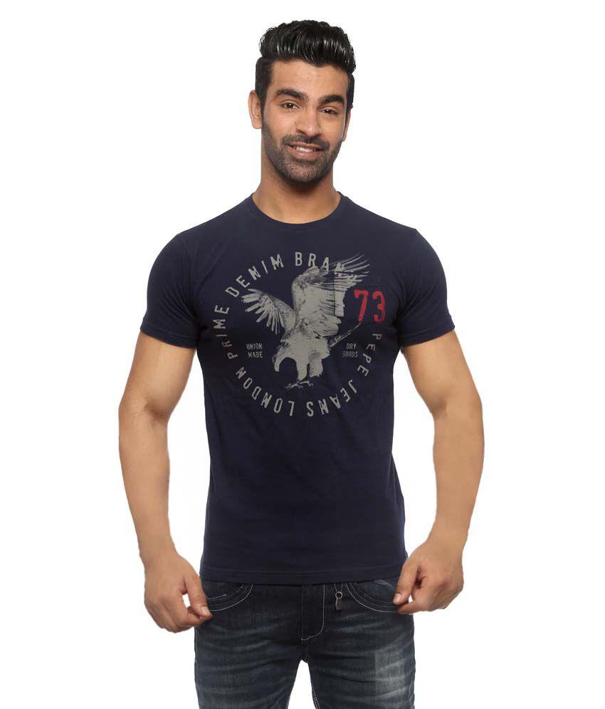 Pepe Jeans Blue Cotton T - Shirt