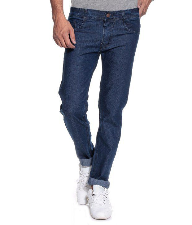 Sdc Navy Blue Regular Fit Jeans