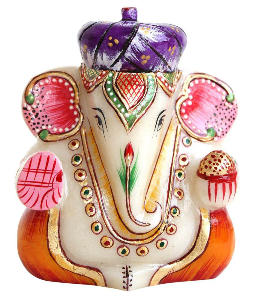 Crafts Gallery Multicolour Marble Ganesha Idol