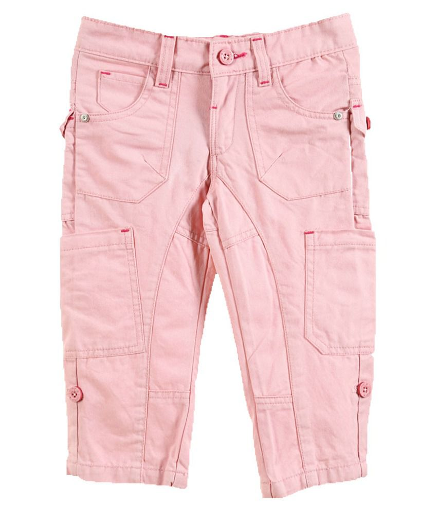 Lilliput Pink Cotton Capris