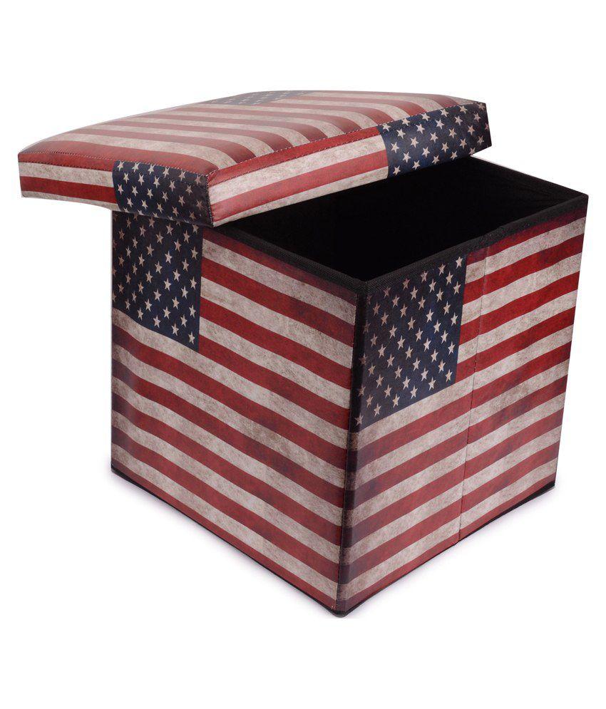 Large Foldable Mdf Ottoman Storage Box Cum Stool Buy