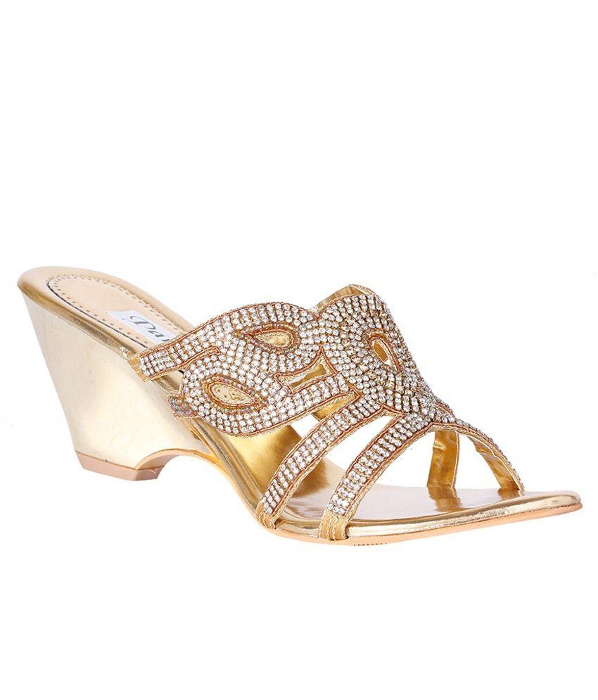 Pantof Golden Heeled Slip Ons