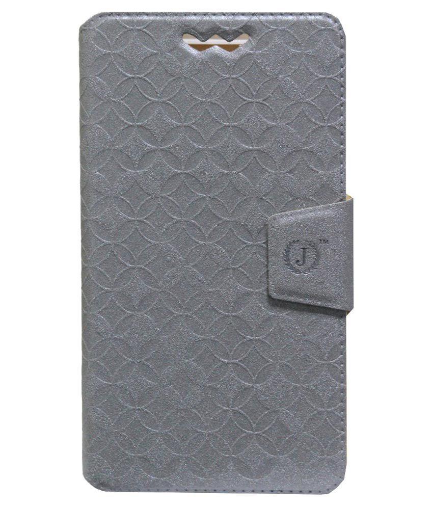 Jo jo Flip Cover for Swipe Konnect ME - Silver