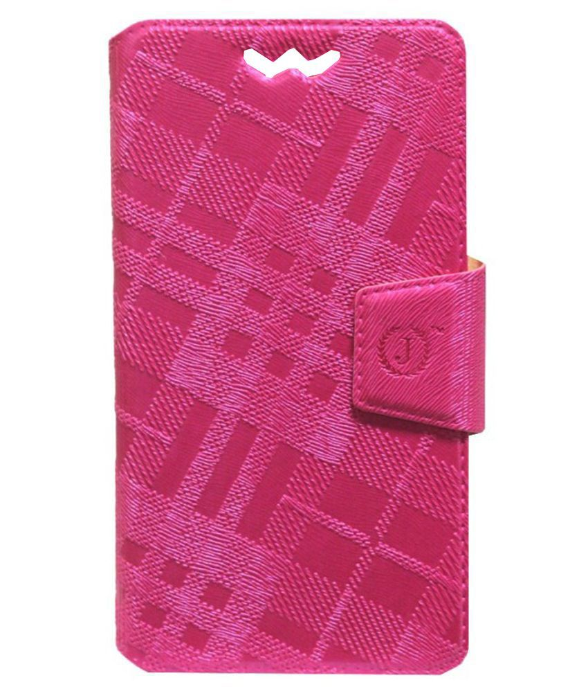 Jo Jo Flip Cover With Silicon Holder For HTC One X+ - Pink