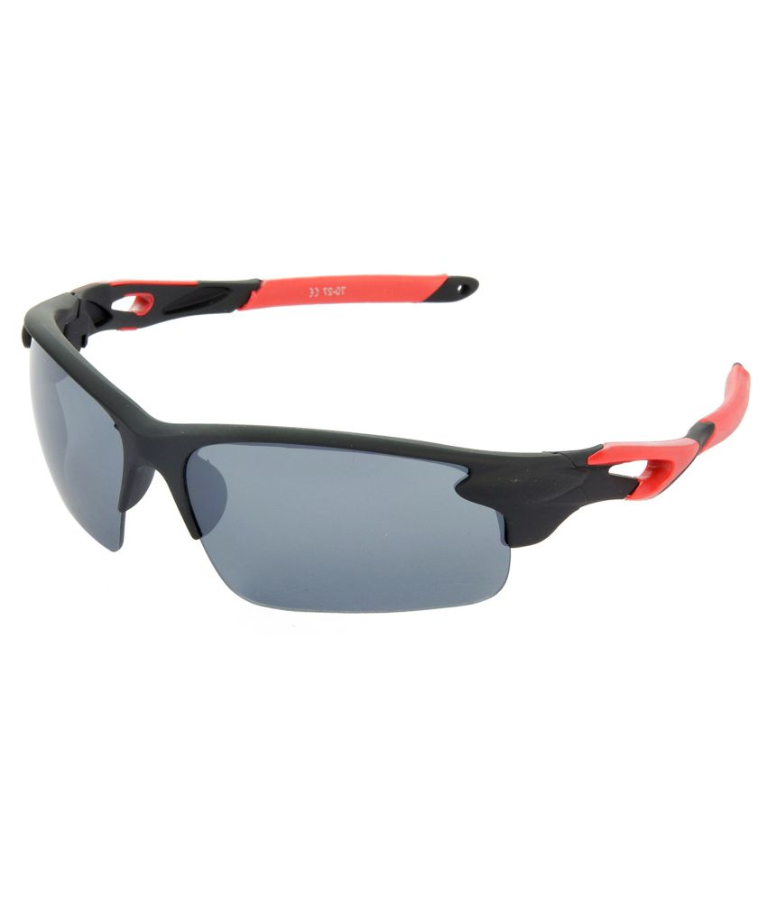 Red Leaf Premium Quality Sports Grey Lens & Black-red Frame Sunglasses For Men And Women - Rd-bx119